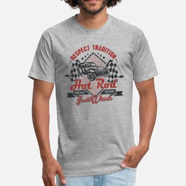 Vintage Hot Rod Hot Rod Vintage racers - Fitted Cotton/Poly T-Shirt by Next Level