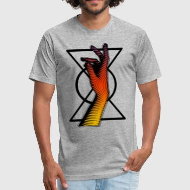 Hand of Time - Fitted Cotton/Poly T-Shirt by Next Level