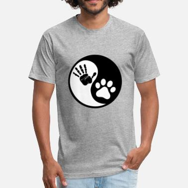 Ying Dog Ying Yang - Fitted Cotton/Poly T-Shirt by Next Level