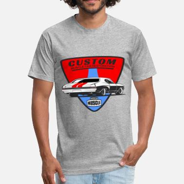 Customized Car Custom Muscle Car - Fitted Cotton/Poly T-Shirt by Next Level