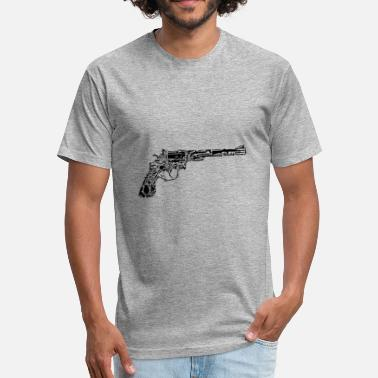 Gun Gamers Gun Made Out Of Guns - Fitted Cotton/Poly T-Shirt by Next Level