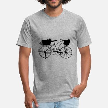 Bicycles bicycle - Fitted Cotton/Poly T-Shirt by Next Level