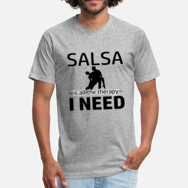 Salsa Clothing Salsa is my therapy - Fitted Cotton/Poly T-Shirt by Next Level