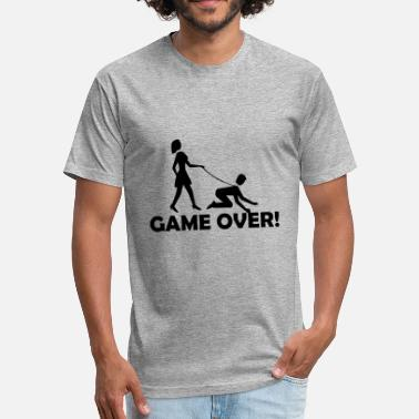 Funny Groom Game Over - Fitted Cotton/Poly T-Shirt by Next Level