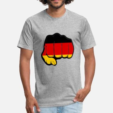 Deutschland - Fitted Cotton/Poly T-Shirt by Next Level