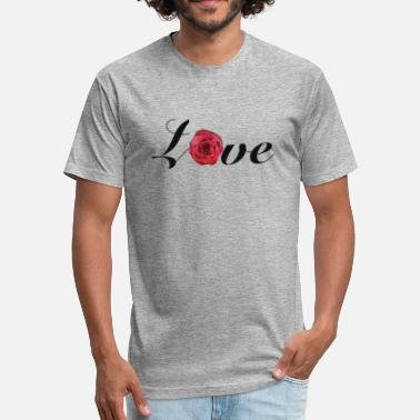 Love Rose T-shirt - Fitted Cotton/Poly T-Shirt by Next Level