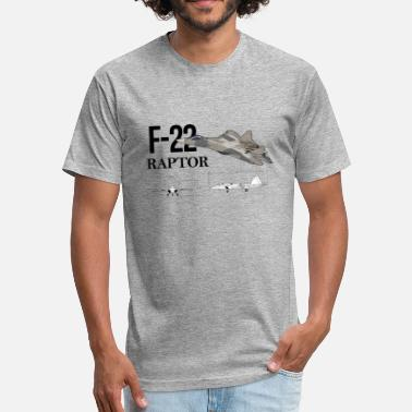 Lockheed lockheed martin F-22 Raptor - Fitted Cotton/Poly T-Shirt by Next Level