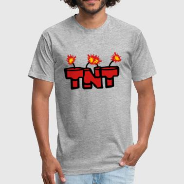 Tnt Explosives lit text rod boom fire hot tnt dynamite explode ex - Fitted Cotton/Poly T-Shirt by Next Level