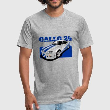 Skyline O Connor ride Nissan GTR R34 - Fitted Cotton/Poly T-Shirt by Next Level