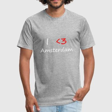 I Love Amsterdam I Love Amsterdam - Fitted Cotton/Poly T-Shirt by Next Level