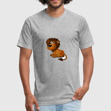 Kids Lion lion kids birthay gift cat - Fitted Cotton/Poly T-Shirt by Next Level