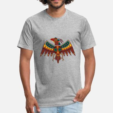 Native American Falcon Native American Zodiac Falcon-1 (Aries) - Fitted Cotton/Poly T-Shirt by Next Level