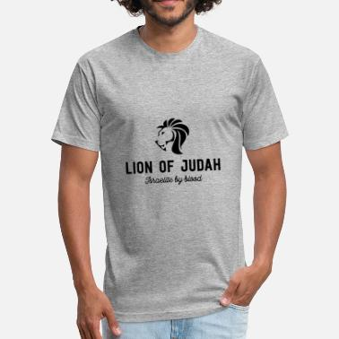 Yahuah Lion Of Judah - Fitted Cotton/Poly T-Shirt by Next Level