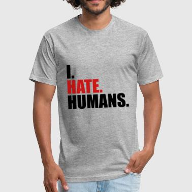 Fucking Humanity cool logo humans text sticker fuck you fuck off ro - Fitted Cotton/Poly T-Shirt by Next Level