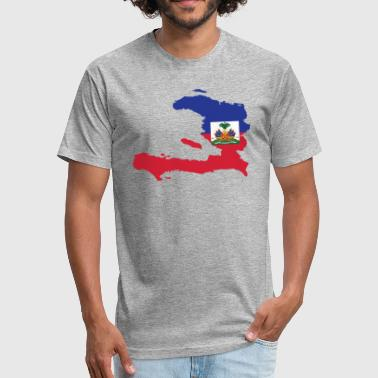 haitian flag shirt - Fitted Cotton/Poly T-Shirt by Next Level