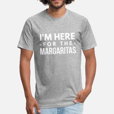 Margarita Funny I'm here for the Margaritas - Unisex Poly Cotton T-Shirt