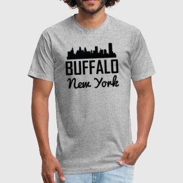 Buffalo Skyline Buffalo New York Skyline - Fitted Cotton/Poly T-Shirt by Next Level