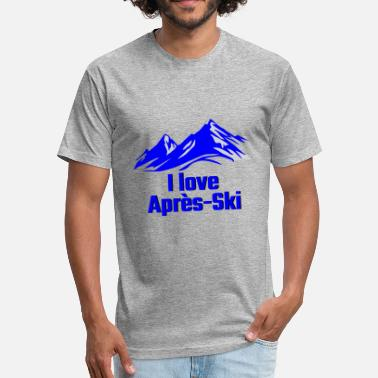 GIFT - I LOVE APRES SKI BLUE - Unisex Poly Cotton T-Shirt