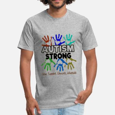 Autism Awareness Autism Strong Autism Awareness Autism Strong - Fitted Cotton/Poly T-Shirt by Next Level