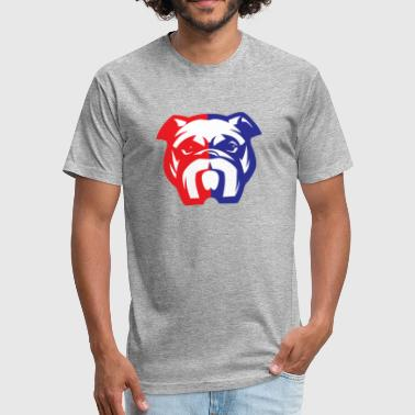 English Bulldog American Bully Mascot - Fitted Cotton/Poly T-Shirt by Next Level