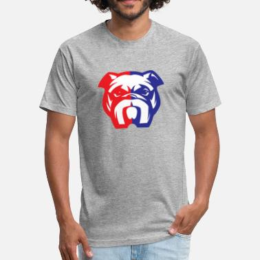 Bulldog American Bully Mascot - Fitted Cotton/Poly T-Shirt by Next Level