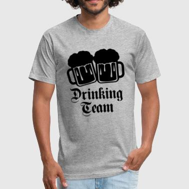 Emblems Cool Sayings jug emblem cool logo text oktoberfest alcohol beer - Fitted Cotton/Poly T-Shirt by Next Level