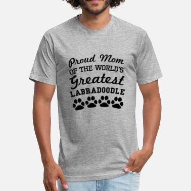 Labradoodle Paw Prints Proud Mom Of The World's Greatest Labradoodle - Fitted Cotton/Poly T-Shirt by Next Level