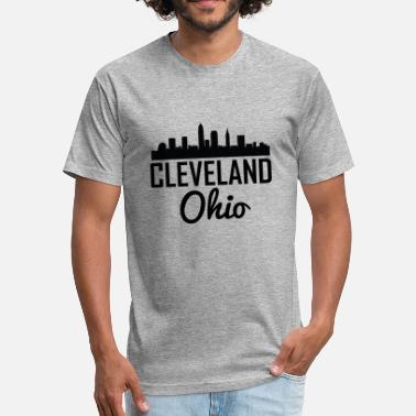 Cleveland Ohio Cleveland Ohio Skyline - Fitted Cotton/Poly T-Shirt by Next Level