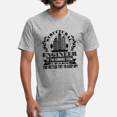 Structural Engineering Structural Engineer - Fitted Cotton/Poly T-Shirt by Next Level