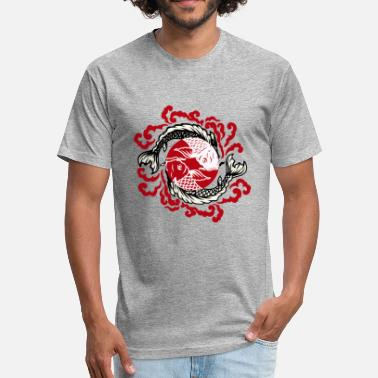 Tattoo Fish Fish Japanese Tattoo 02 - Fitted Cotton/Poly T-Shirt by Next Level