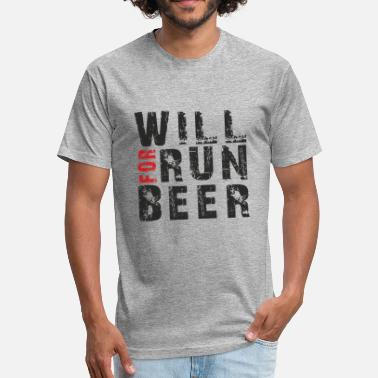Will Run For Beer Will Run For Beer - Fitted Cotton/Poly T-Shirt by Next Level