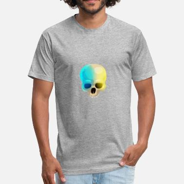 Double Skull Double Colored Human Skull - Fitted Cotton/Poly T-Shirt by Next Level
