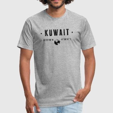 Kuwait - Fitted Cotton/Poly T-Shirt by Next Level