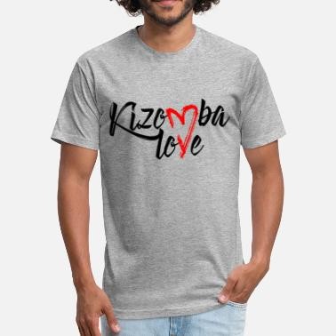 Zouk Love kizomba love - Fitted Cotton/Poly T-Shirt by Next Level
