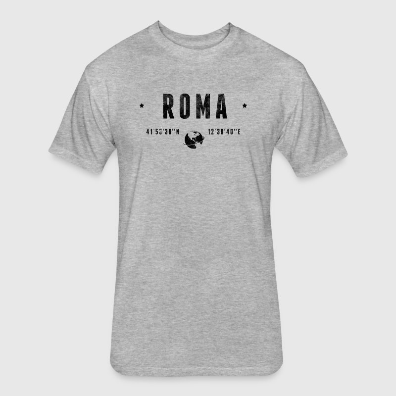 Roma - Fitted Cotton/Poly T-Shirt by Next Level