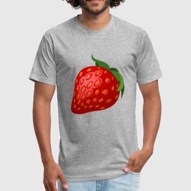 strawberry - Fitted Cotton/Poly T-Shirt by Next Level