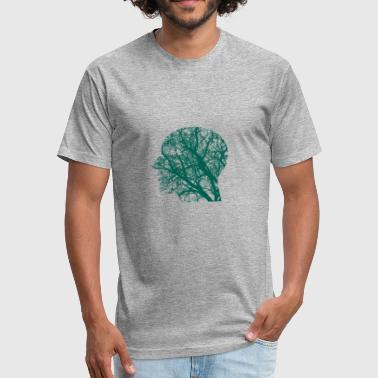 Minds Branches - Fitted Cotton/Poly T-Shirt by Next Level
