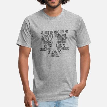 Bohemian Bohemian Rhapsody Lyrics - Fitted Cotton/Poly T-Shirt by Next Level
