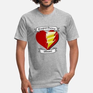 superhero at heart - Fitted Cotton/Poly T-Shirt by Next Level