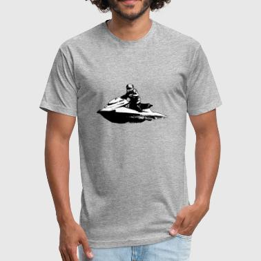 Jetski  -  Jet-ski - Boatercycle - Water scooter - Fitted Cotton/Poly T-Shirt by Next Level