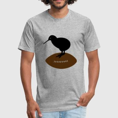 Rugby New Zealand Kiwi Rugby New Zealand - Fitted Cotton/Poly T-Shirt by Next Level