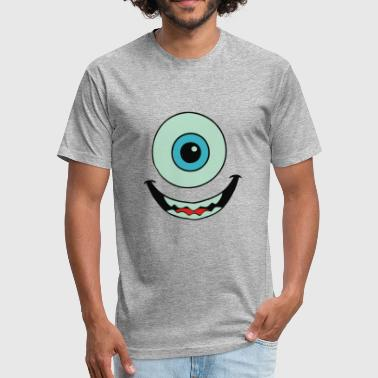 Mike Wazowski Mike Wazowski monstres - Fitted Cotton/Poly T-Shirt by Next Level