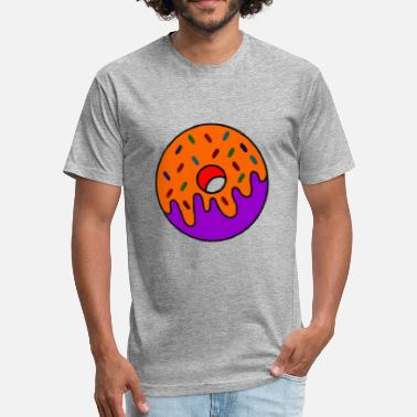 Cartoon Donuts Doughnut Donuts Cartoon - Fitted Cotton/Poly T-Shirt by Next Level