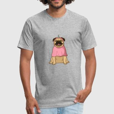 Uny Uni dog - Fitted Cotton/Poly T-Shirt by Next Level