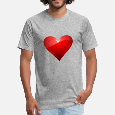 Big Heart Big Heart - Fitted Cotton/Poly T-Shirt by Next Level