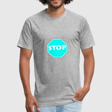 Stop Light Stop - Light blue - Fitted Cotton/Poly T-Shirt by Next Level