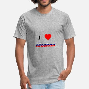 I Love Moscow i love moscow - Fitted Cotton/Poly T-Shirt by Next Level