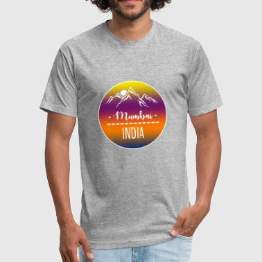 City India Mumbai India - Fitted Cotton/Poly T-Shirt by Next Level