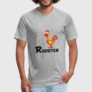 Cartoon Rooster Cartoon Rooster - Fitted Cotton/Poly T-Shirt by Next Level