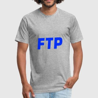 Ftp FTP Blue - Fitted Cotton/Poly T-Shirt by Next Level